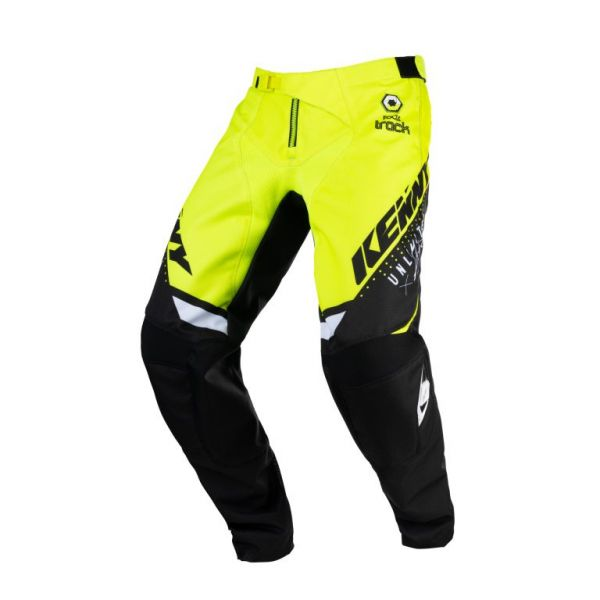 Pantaloni MX-Enduro Copii Kenny Pantaloni Moto MX Track Focus Kid Neon Yellow 2021