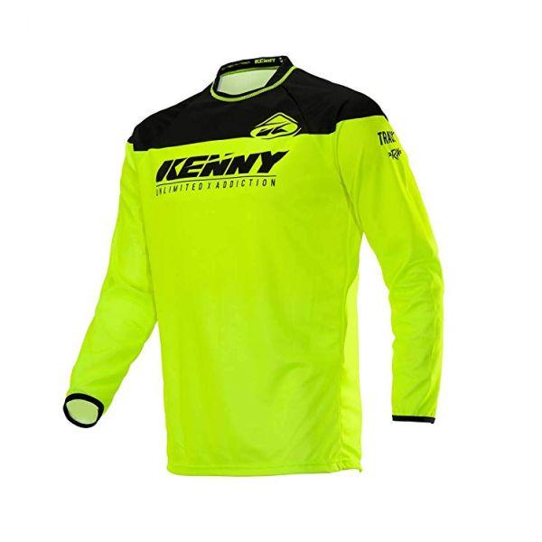 Tricouri MX-Enduro Copii Kenny Tricou Copii Track Raw S20 Neon/Yellow