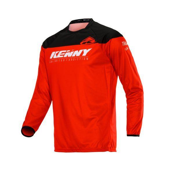 Tricouri MX-Enduro Copii Kenny Tricou Copii Track Raw S20 Red