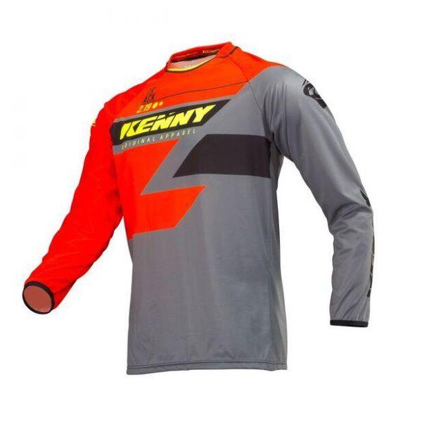 Tricouri MX-Enduro Copii Kenny Tricou Copii Track Orange/Grey/Yellow S9