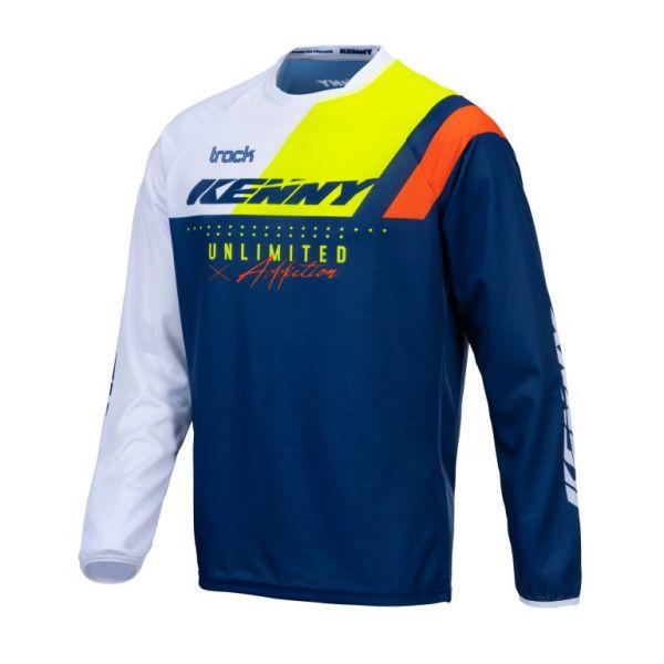 Tricouri MX-Enduro Copii Kenny Tricou Moto Copii MX Track Focus Kid Navy Neon Yellow 2021