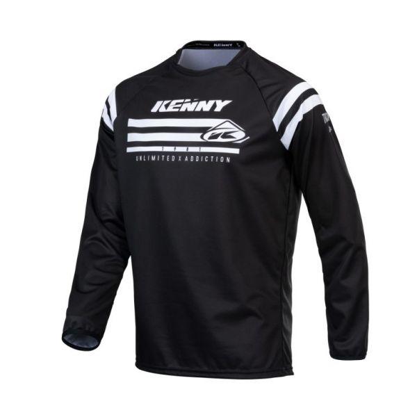 Tricouri MX-Enduro Copii Kenny Tricou Moto Copii MX Track Raw Black 2021