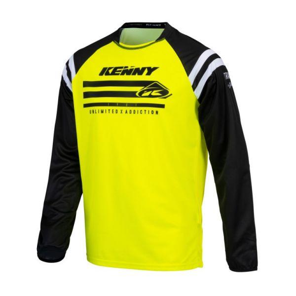 Tricouri MX-Enduro Copii Kenny Tricou Moto Copii MX Track Raw Neon Yellow 2021