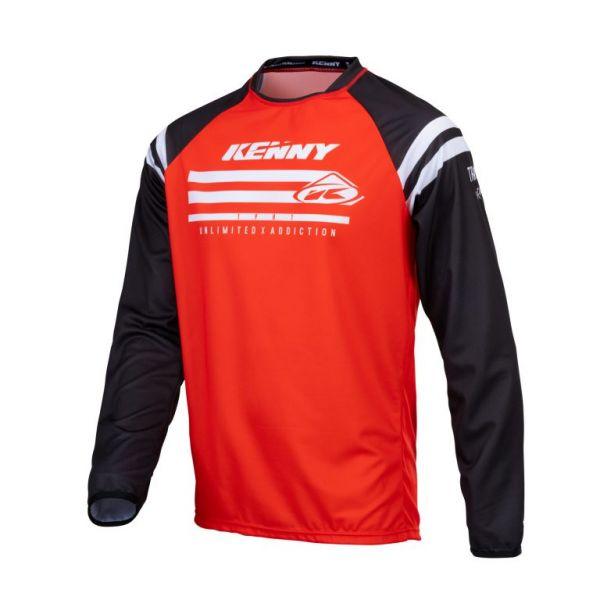 Tricouri MX-Enduro Copii Kenny Tricou Moto Copii MX Track Raw Red 2021