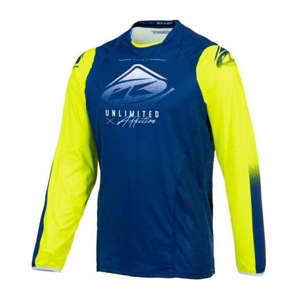Tricouri MX-Enduro Kenny Tricou Moto MX Titanium Navy Neon Yellow 2021