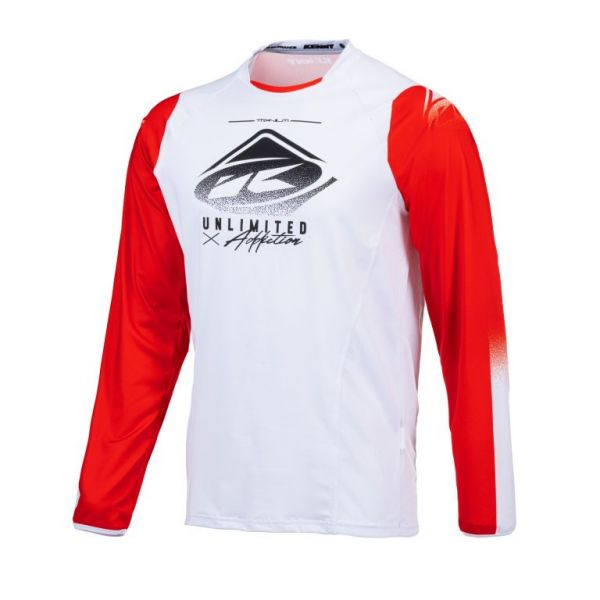 Tricouri MX-Enduro Kenny Tricou Moto MX Titanium Red White 2021