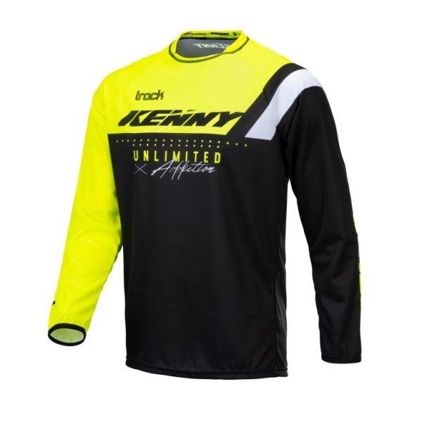 Tricouri MX-Enduro Kenny Tricou Moto MX Track Focus Neon Yellow 2021