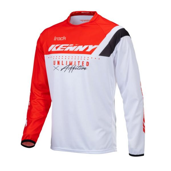 Tricouri MX-Enduro Kenny Tricou Moto MX Track Focus Red 2021