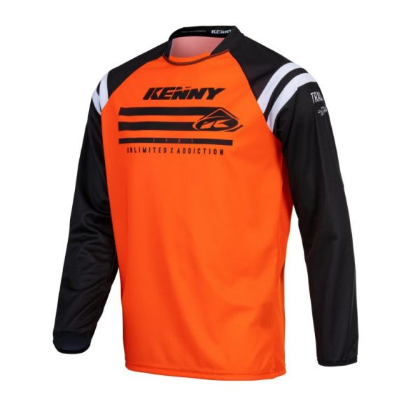 Tricouri MX-Enduro Kenny Tricou Moto MX Track Raw Neon Orange 2021