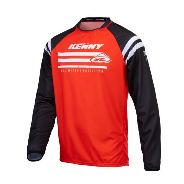 Tricouri MX-Enduro Kenny Tricou Moto MX Track Raw Red 2021