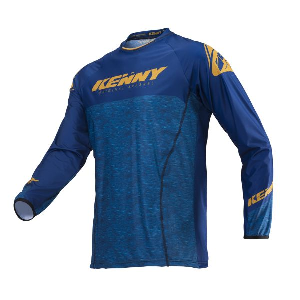 Tricouri MX-Enduro Kenny Tricou Titanium S19 Gold Heather Blue