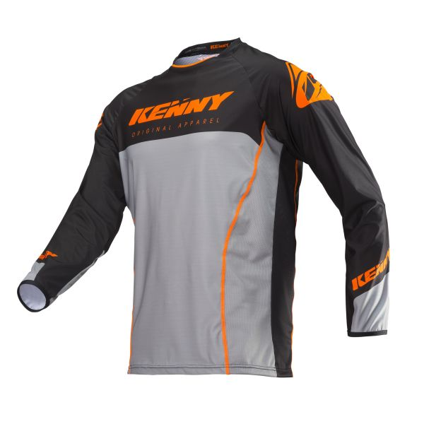 Tricouri MX-Enduro Kenny Tricou Titanium S19 Orange/Gray
