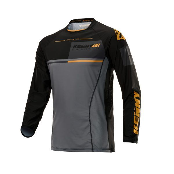Tricouri MX-Enduro Kenny Tricou Titanium S20 Black/Gold 2020