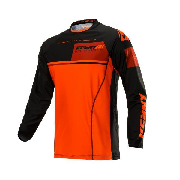 Tricouri MX-Enduro Kenny Tricou Titanium S20 Black/Orange 2020