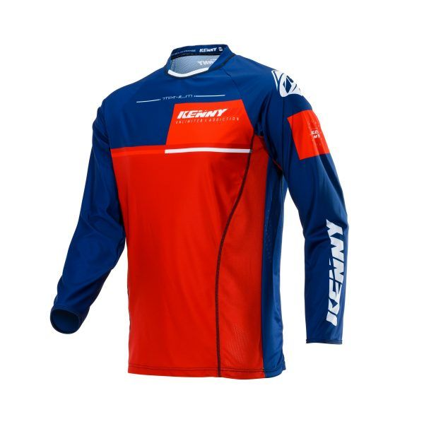 Tricouri MX-Enduro Kenny Tricou Titanium S20 Navy/Red 2020