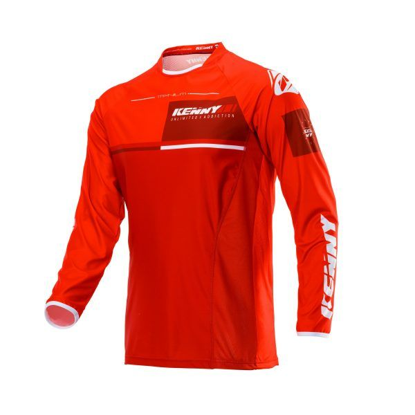 Tricouri MX-Enduro Kenny Tricou Titanium S20 Red 2020
