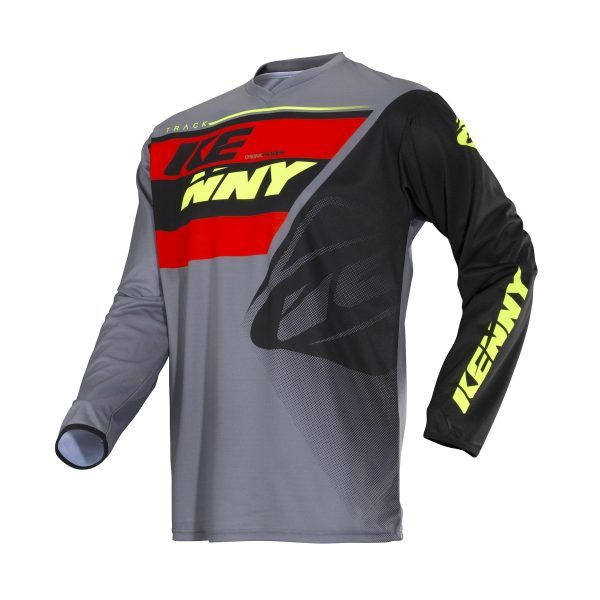 Tricouri MX-Enduro Kenny Tricou MX Track Grey/Orange S18