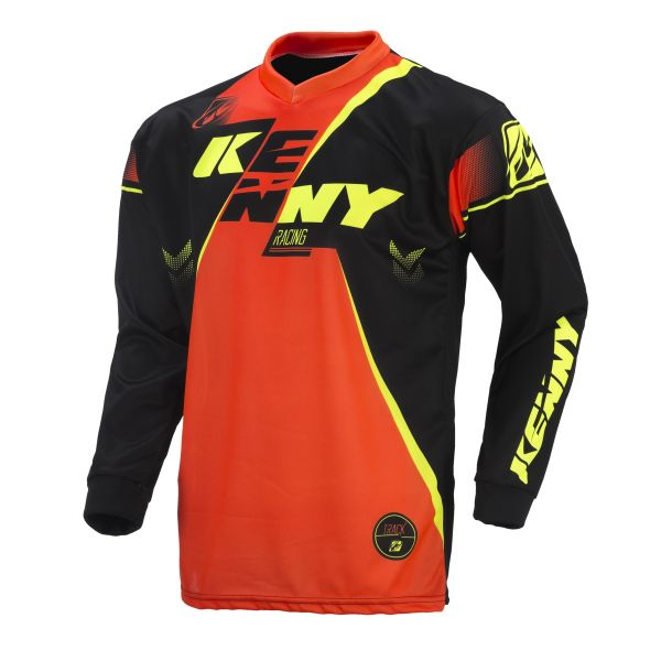 Tricouri MX-Enduro Copii Kenny Tricou Track Orange/Black/Yellow S7 Copii