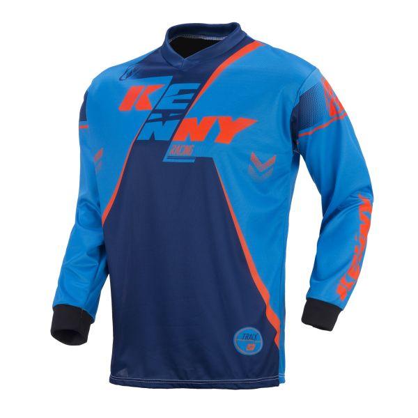 Tricouri MX-Enduro Copii Kenny Tricou Track Orange/Blue S7 Copii
