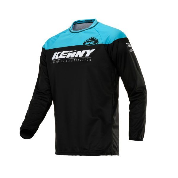 Tricouri MX-Enduro Kenny Tricou Track Raw Black/Turquoise S20