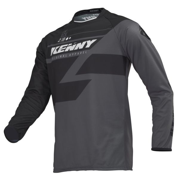 Tricouri MX-Enduro Kenny Tricou Track S9 Adult Black/Grey