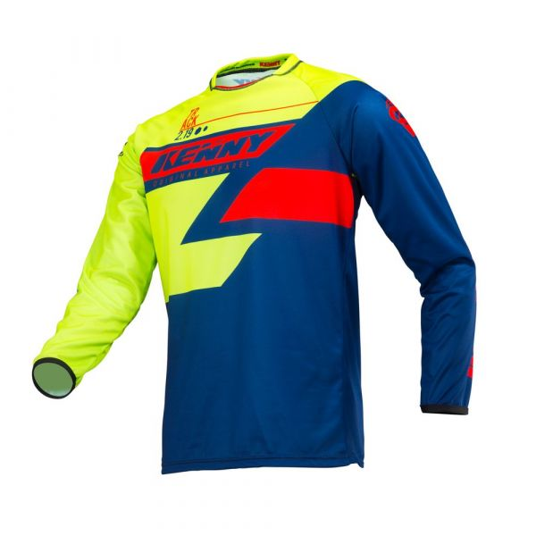 Tricouri MX-Enduro Kenny Tricou Track S9 Adult Navy/Lime/Red