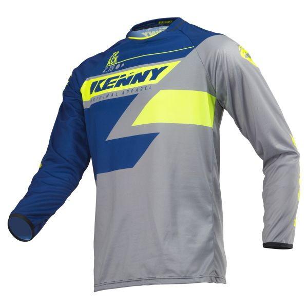 Tricouri MX-Enduro Kenny Tricou Track S9 Adult Navy/Lime