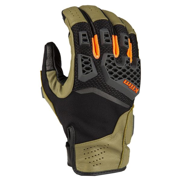Manusi Touring Klim Baja S4 Glove Sage - Strike Orange 2020
