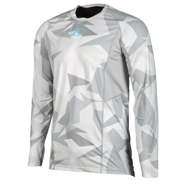 Underlayer Snow Klim Bluza Aggressor Cool 1.0 LS Light Gray Camo 2020