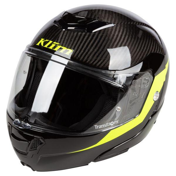 Casti Moto Flip-up (Modulabile) Klim Casca Moto Modulabila TK1200 ECE/DOT SM Architek Vivid Karbon 2021