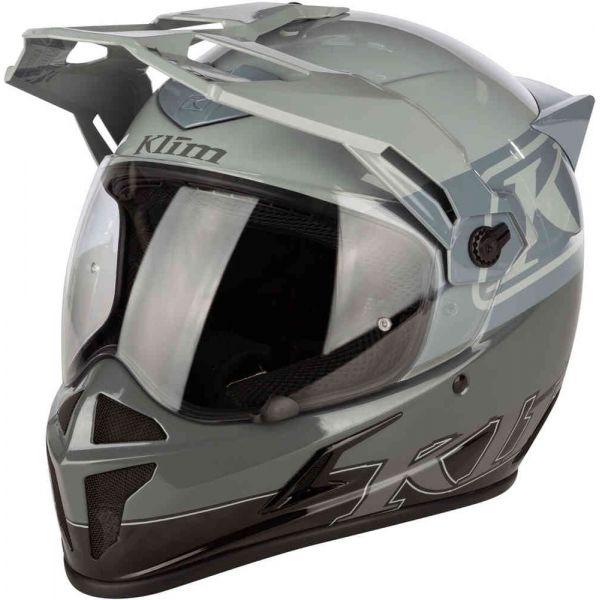 Casti Moto Adventure-Touring Klim Casca Moto Touring Krios Karbon ECE Covert Cool Gray 2021
