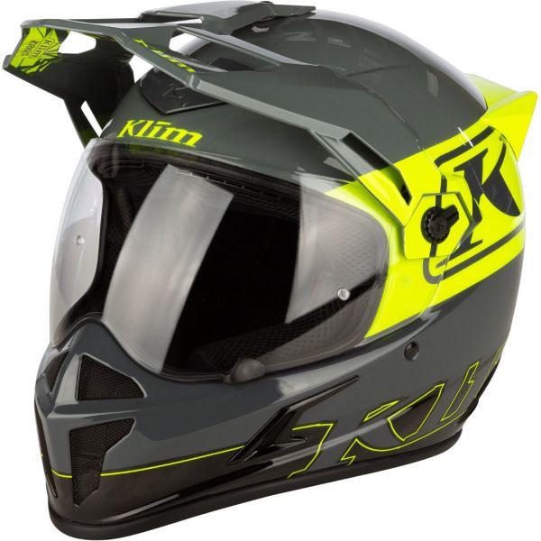 Casti Moto Adventure-Touring Klim Casca Moto Touring Krios Karbon ECE Covert Hi-Vis 2021