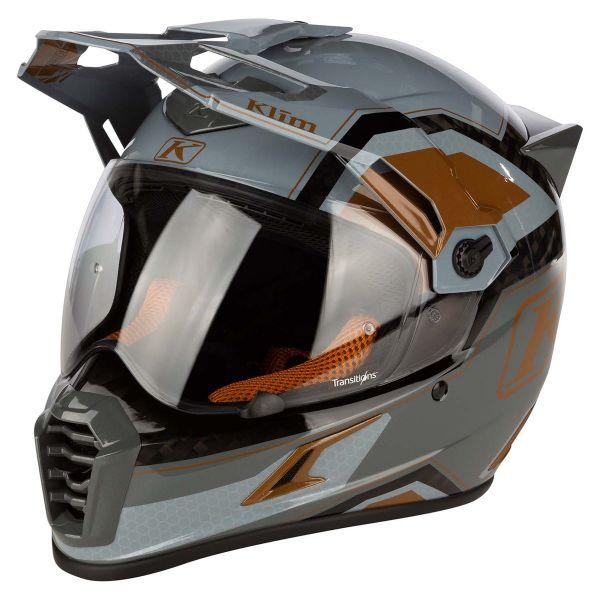 Casti Moto Adventure-Touring Klim Casca Moto Touring Krios Pro Helmet ECE Rally Metallic Bronze 2021