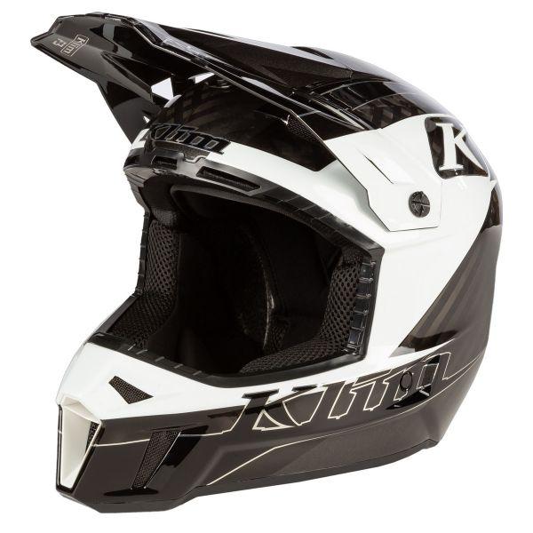 Casti Snowmobil Klim Casca Snow F3 Carbon Helmet ECE Draft White 2021