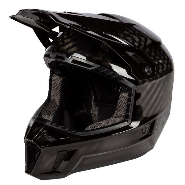Casti Snowmobil Klim Casca Snow F3 Carbon Helmet ECE Ghost 2021