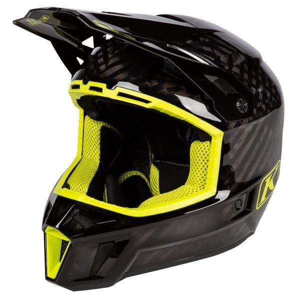 Casti Snowmobil Klim Casca Snow F3 Carbon Helmet ECE Hi-Vis 2021