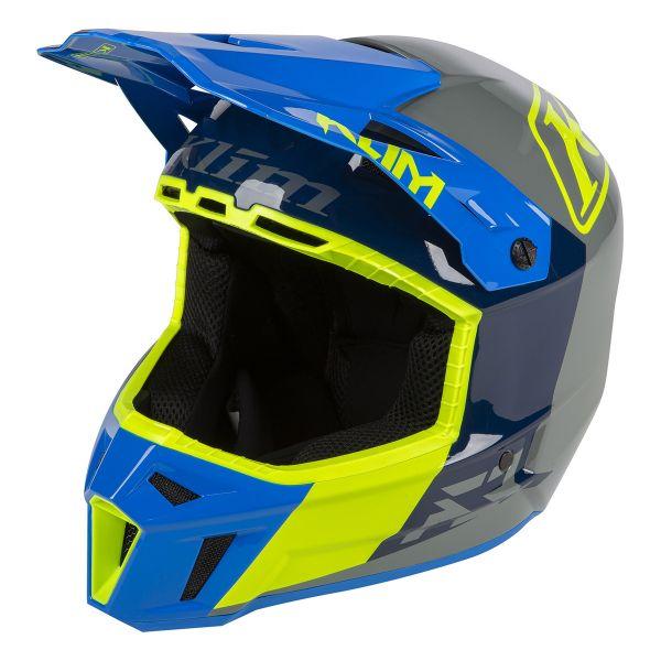 Casti Snowmobil Klim Casca Snow F3 ECE/DOT Prizm Kinetik Blue 2021