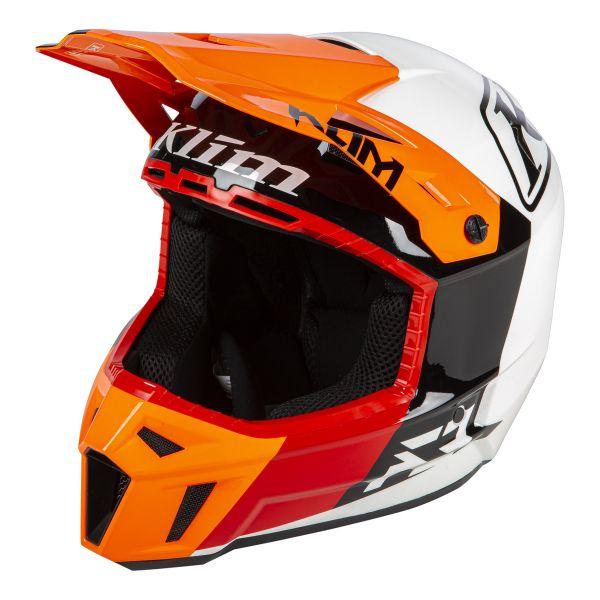 Casti Snowmobil Klim Casca Snow F3 ECE/DOT Prizm Orange Krush 2021