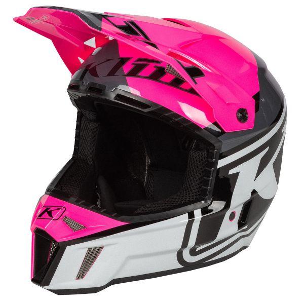 Casti Snowmobil Klim Casca Snow F3 Helmet ECE Disarray Knockout Pink 2021