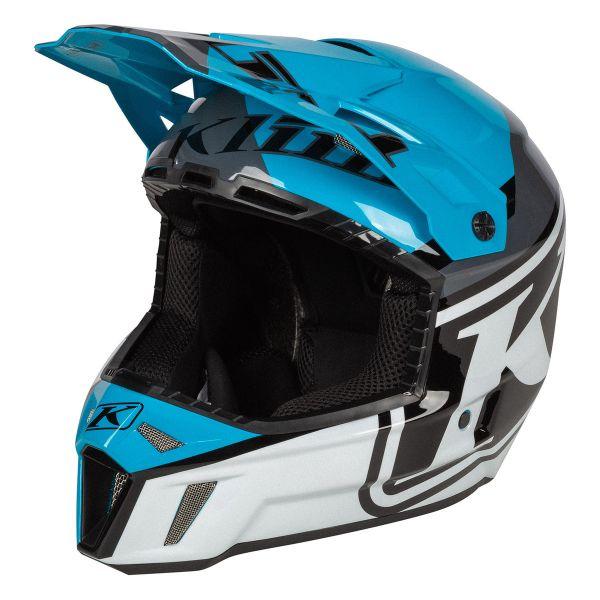 Casti Snowmobil Klim Casca Snow F3 Helmet ECE Disarray Vivid Blue 2021