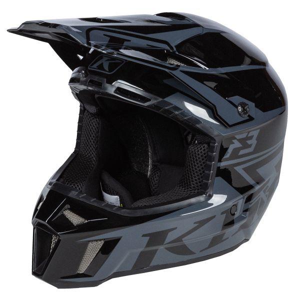 Casti Snowmobil Klim Casca Snow F3 Helmet ECE Stark Black 2021