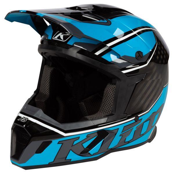 Casti Snowmobil Klim Casca Snow F5 Helmet ECE Jet Vivid Blue 2021