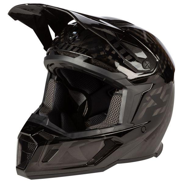 Casti Snowmobil Klim Casca Snow F5 Helmet ECE Shred Black Asphalt 2021