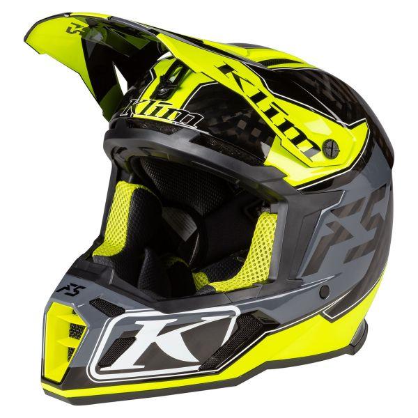 Casti Snowmobil Klim Casca Snow F5 Helmet ECE Shred Hi-Vis 2021