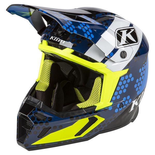 Casti Snowmobil Klim Casca Snow F5 Koroyd ECE/DOT Tactik Kinetik Blue 2021
