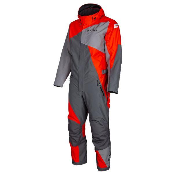 Combinezon Monosuit SNOW Klim Combinezon Snow Insulated Railslide One-Piece Asphalt-High Risk Red 2022
