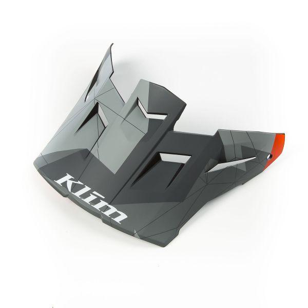 Accesorii Casti Enduro Klim Cozoroc Casca Moto F5 Camo - Orange