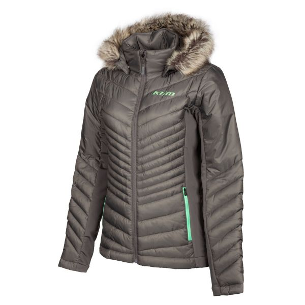Geci/Hanorace Casual Klim Geaca Dama Mid Layer Waverly Castlerock Wintermint 2021