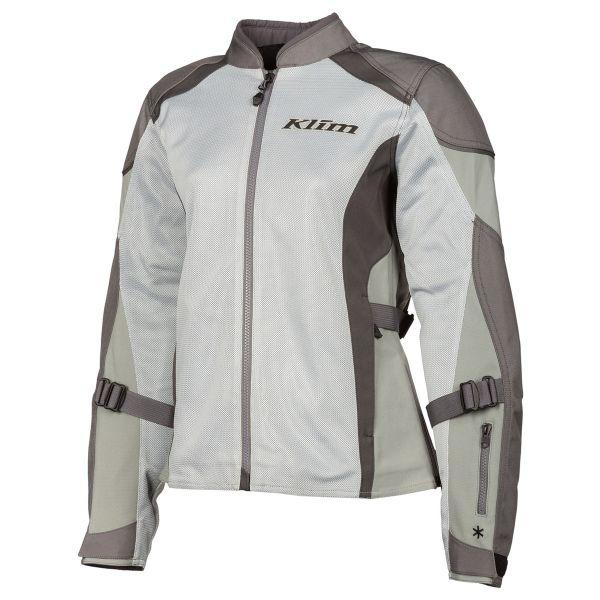 Geci Moto Piele - Dama Klim Geaca Moto Textil Dama Avalon Monument Gray-Cool Gray 2021