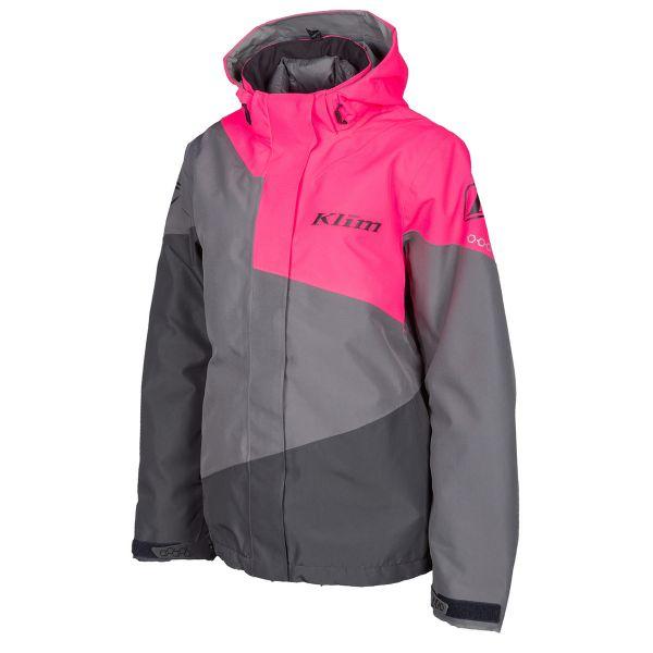 Geci Snowmobil - Dama Klim Geaca Snow Insulated Dama Fuse Castlerock Gray-Knockout Pink 2022